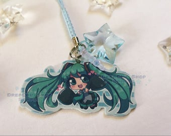Hatsune Miku Charm (star charm included)