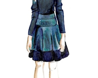 Custom Children's Fashion Illustration