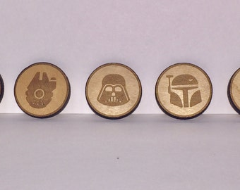 Star Wars Laser Engraved Lapel Button