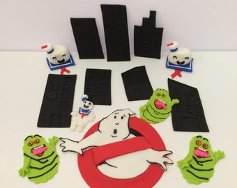 Ghostbusters Fondant Cake & Cupcake Topper