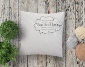 YOUR TEXT cushion pillow....