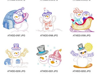 Snowman-Strikes-Again. ( 10 Machine Embroidery Designs from ATW )