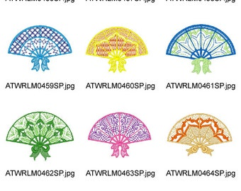 Lacey-Fans   ( 10 Machine Embroidery Designs from ATW ) XYZ17B