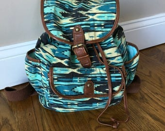Vintage Fabric Backpack Bookbag