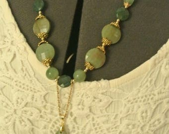 A Great Necklace with Green Stones