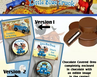 Little Blue Truck Chocolate Covered Oreo