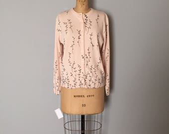 CLEARANCE...flower branches cardigan | 90s angel pink cardi