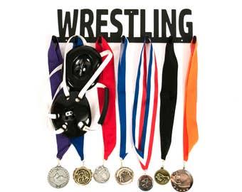 Wrestling, Wrestling Medal Holder, Wrestling Medal Hanger, Wrestling Medal Display, Wrestling Medals, Medal Displays, Wrestling Gifts