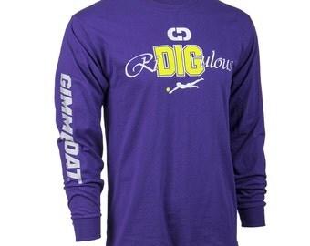 RiDIGulous Long Sleeve Volleyball T-Shirt, Volleyball Shirts, Volleyball Gift - Free Shipping!