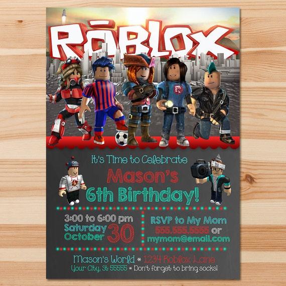 Roblox Birthday Invite Chalkboard Roblox Invitation