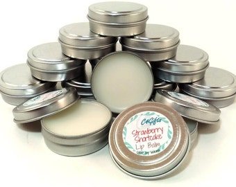 Strawberry Shortcake Lip Balm - Unsweetened Lip Balm - Chemical, Dye, Preservative Free - Natural Lip Balm, Beeswax Lipbalm