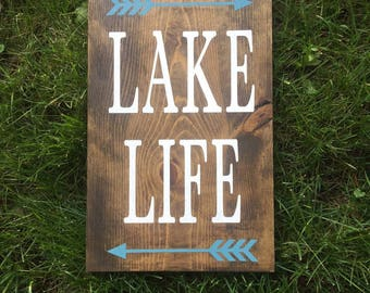 Front Porch Sign, Lake Life Sign, Lake House Decor, Custom Lake Sign, Custom Wood Sign, Wood Lake Sign, Rustic Wall Decor, Rustic Wood Sign