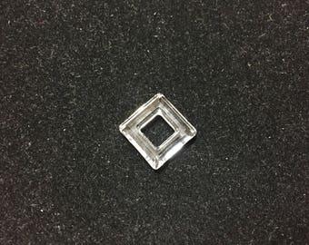 4439 Swarovski® 14mm Square - Crystal