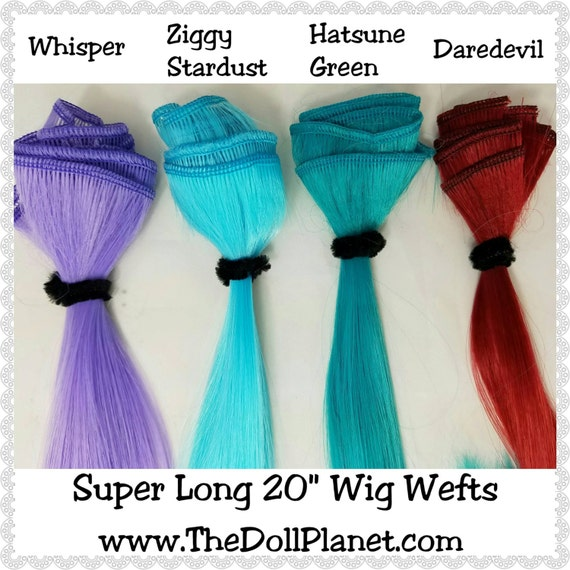 x1 Super Long Wig Weft High Temp Premium Soft Silky Nylon for Making Wigs for Blythe, American Girl, Pullip, Monster High, Ever After High