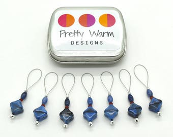 Blue Knitting Markers - Stitch Markers - Stitchmarkers - Snag Free Stitch Markers - Stitch Marker Knitting - Knitting Tools - Knit Markers