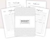 BUDGET PLANNER IMPRIMABLE | Budget mensuel, annuel, suivi comptes, épargne, charges, dépense, crédit, calendrier financier... | A5-A4-Letter