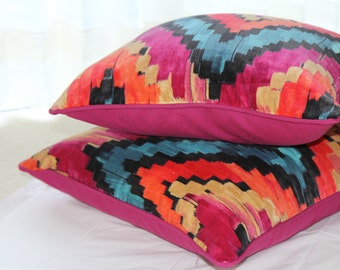 Pink Pattern Cushion Cover, Pink Cushion Cover, Pink Pillow Cover
