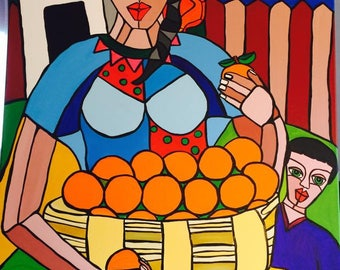 La venta | Acryl on Canvas Painting | by Evy Pineda