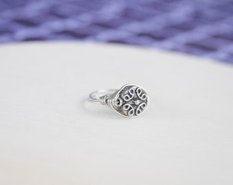 Boho Ring, Wire Wrapped Rings, Vintage Rings, Rings For Women, Wire Rings, Rings For Women, Silver Ring, Bohemian Ring
