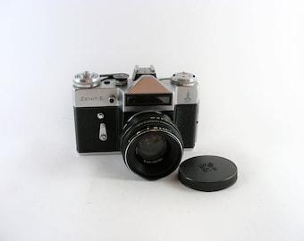 Vintage Zenit E Soviet Analogue Film Camera Helios 44-2 2/58 Lens