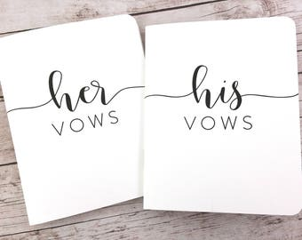 Wedding Vow Books, His and Hers Vow Books, Vow Booklets, Vow Notebooks, Wedding Keepsake - FPS00VB6