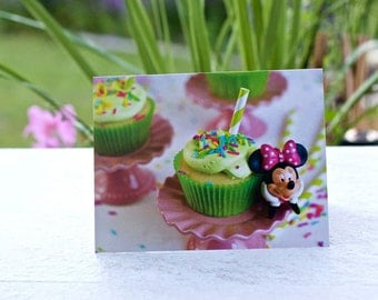 Birthday Cards/ Photography Greeting Cards/ Recipe Card Blank / Birthday Card - Disney Minnie Mouse Greeting Cards 4 1/4 x 5 1/2 Landscape