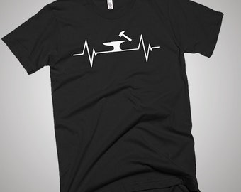 Blacksmithing Heartbeat T-Shirt