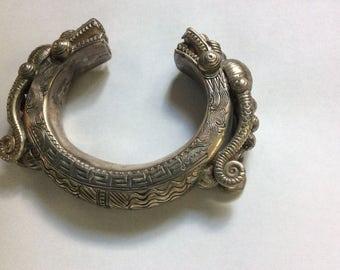 silver dragon bracelet thailand handmade tribal