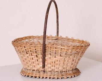 Rattan craft Gypsy/basket Bohemian wicker basket / french basket vintage/storage kitchen campaign/food basket