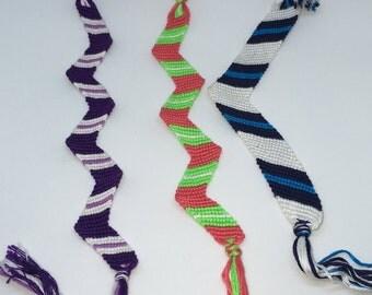 Colorful Zig Zag Friendship Bracelets