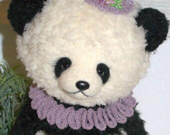 OOAK crocheted Panda Bear Delia, 27 cm
