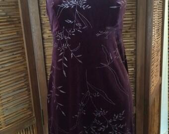 Velvet slip style dress