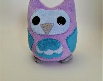 Purple Minky Owl Plushie