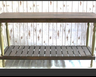 Console or Sofa Table made from reclaimed wood