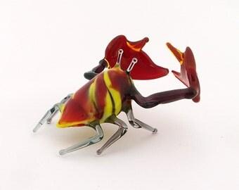Handmade glass figurines Crab (Big size)