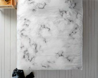 marble duvet cover marble duvet black white duvet queen duvet king duvet