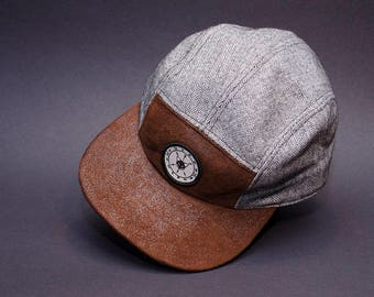 Herringbone fivepanel hat by Vulpon