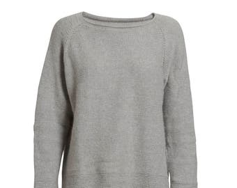 Raglan knit boat neck pullover sweater PDF knitting pattern/women's wool jumper knit pattern/Ladies knit jumper pattern/knit sweater pattern