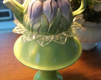 Tea Pot Glass Totem