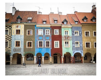 Poznan, Poland Photograph Art Print, Europe Wall Decor, City Square