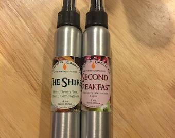 Waxspurts 4 oz. Room Spray - Pillow Mist - air freshener - yoga mat spray - Body Mist - Bookish Fandom