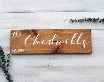 Last Name Wood Sign, Family Name Sign, Last Name Sign, Family Established Sign, Last Name Established Sign, Wood Signs, Wedding Gift