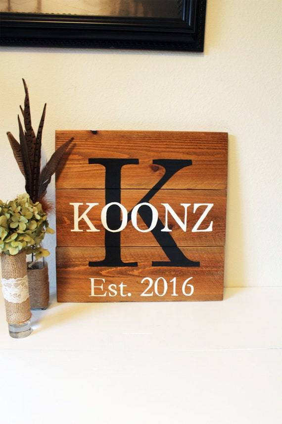 Christmas Gifts, Pallet Name Sign, Last Name Sign, Family Name Established Sign, Rustic Family Established Sign, Gifts for Women