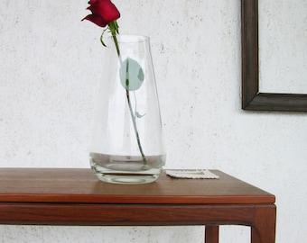 Large glass vase, Clear glass vase, Vintage vase, Flower vase, Glass vase, Space age modern, mid century modern, modern vase