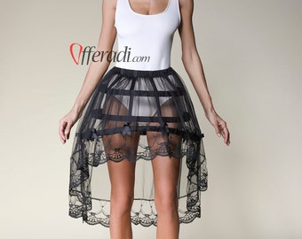 Modern Cage Skirt with Tulle & Lace