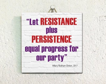 Hillary Clinton quote, Women's Movement ceramic tile to hang or display