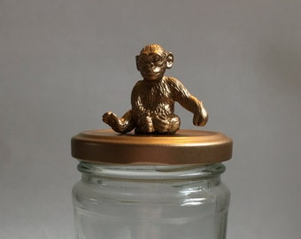 Chimpanzee Glass Jar