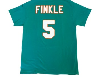 Ray Finkle T-shirt # 5 Miami Jersey Shirt As Worn In Ace Ventura Pet Detective Movie Football Dolphins Snowflake Kicker Finkel Costume Adult