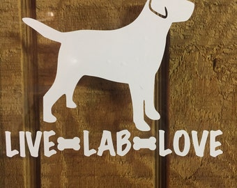Lab Decal - Live, Lab, Love - Free Shipping