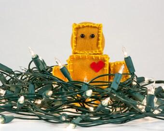 Felt Robot Box Person Decorative Christmas Tree Ornament